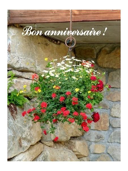 Carte Bon Anniversaire Fleurs